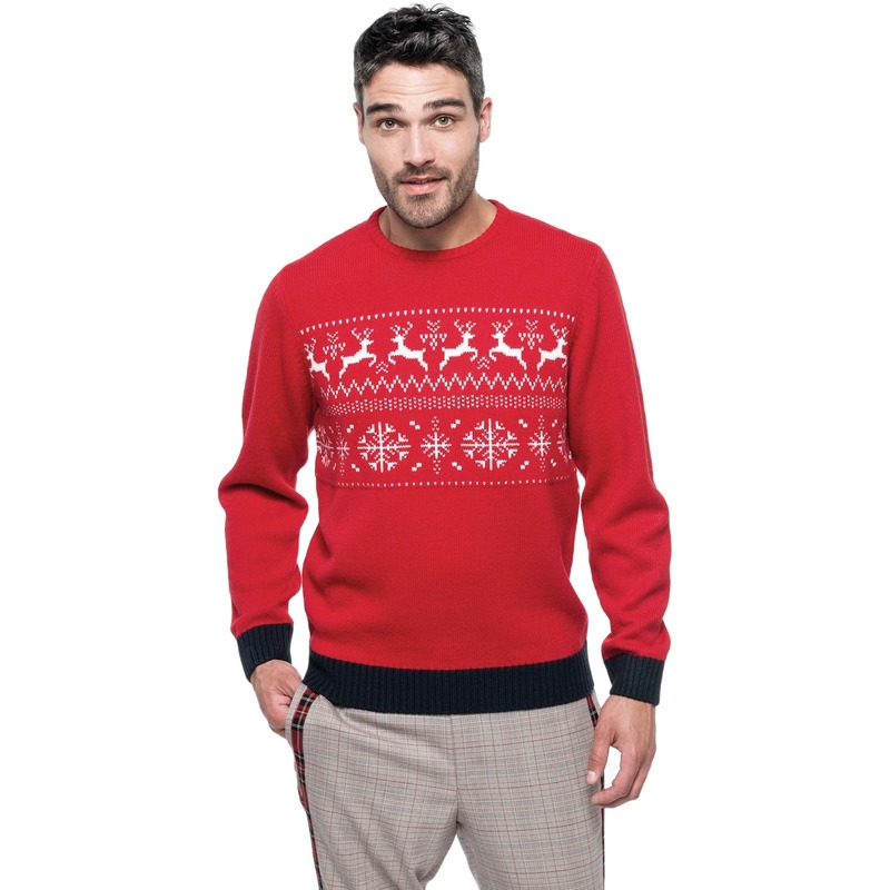 Witte Kersttrui.Rood Witte Foute Lelijke Gebreide Kersttrui Met Noorse Print Voor