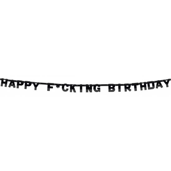 Feestartikelen diversen AlleKleurenShirts Fuck verjaardag letterslinger