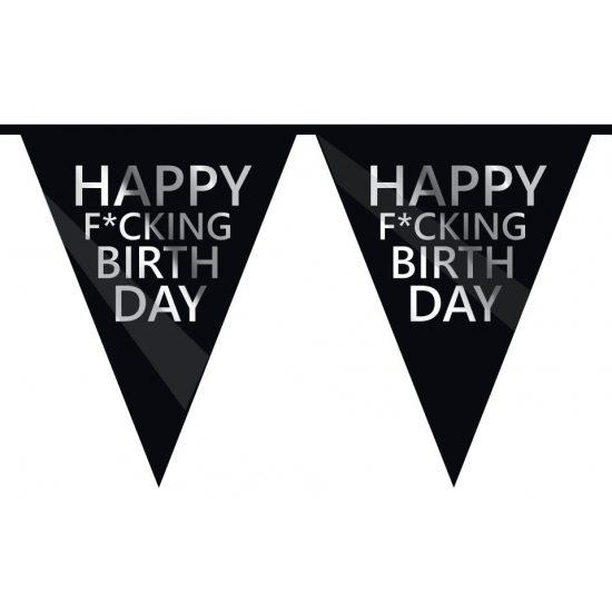 Fucking Birthday slingers verjaardag 10 meter Geen Goedkoop