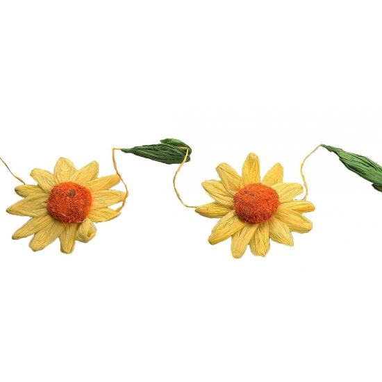 Geel-oranje zonnebloemen slingers