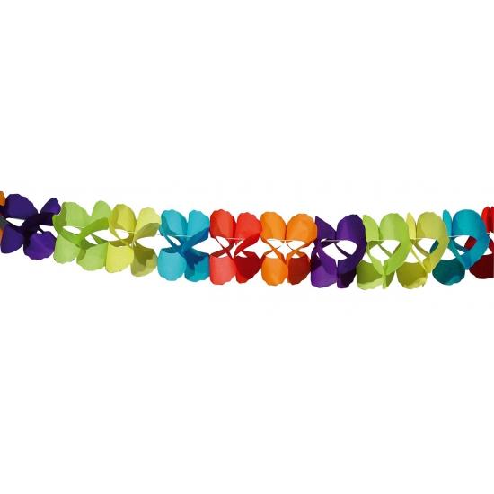 Feestartikelen diversen Gekleurde papieren slingers 6 meter