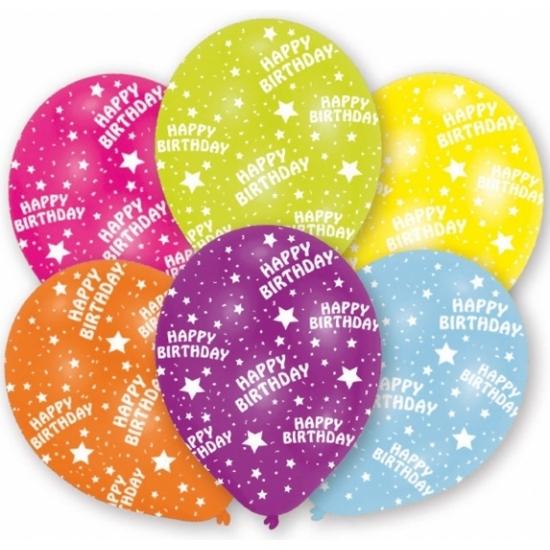 Gekleurde verjaardag ballonnen 6 stuks AlleKleurenShirts Beste kwaliteit
