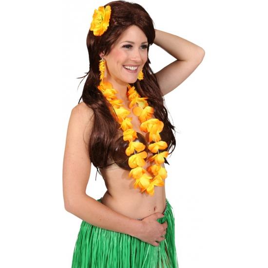 Geen Gele Hawaii set voor dames Hawaii feestartikelen