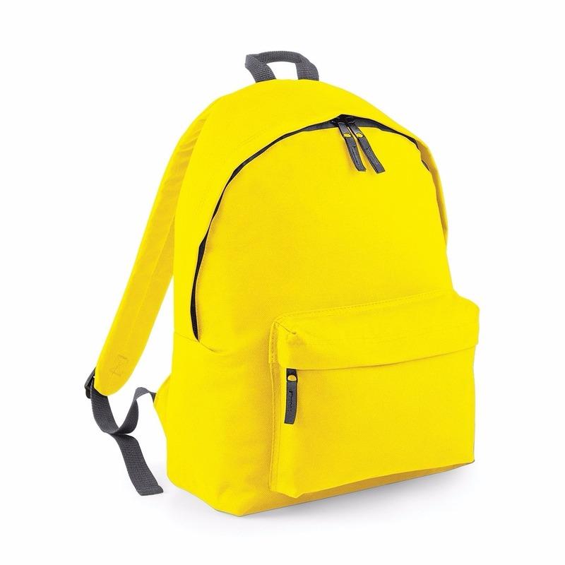 Tassen Bagbase Gele rugtas reistas met voorvak 18 liter voor volwassenen