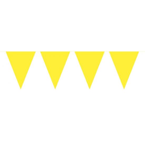 Gele vlaggenlijn groot 10 meter Geen Kleuren versiering