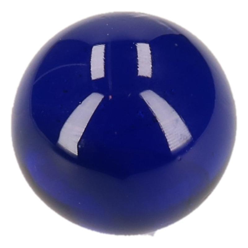 Glazen knikker donkerblauw 6 cm