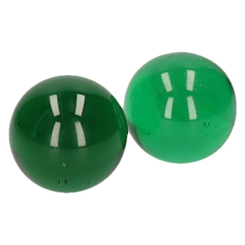 Glazen knikker groen 6 cm 2 stuks