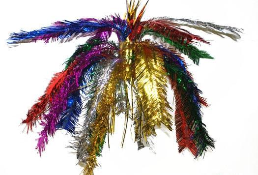 Glitter decoratie hanger multi gekleurd