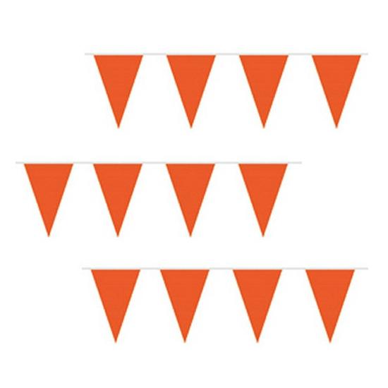 Goedkope oranje vlaggenlijn 10 m AlleKleurenShirts laagste prijs