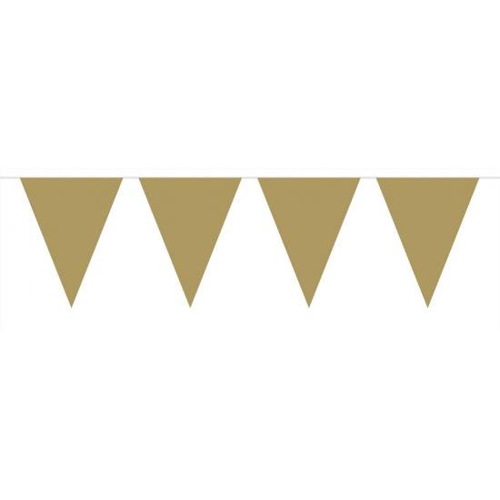 Kleuren versiering Geen Gouden vlaggenlijn groot 6 meter