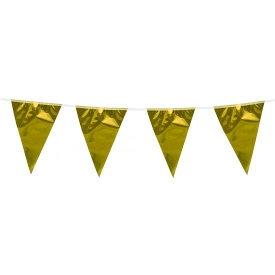 Goudkleurige slingers 10 meter AlleKleurenShirts Kleuren versiering