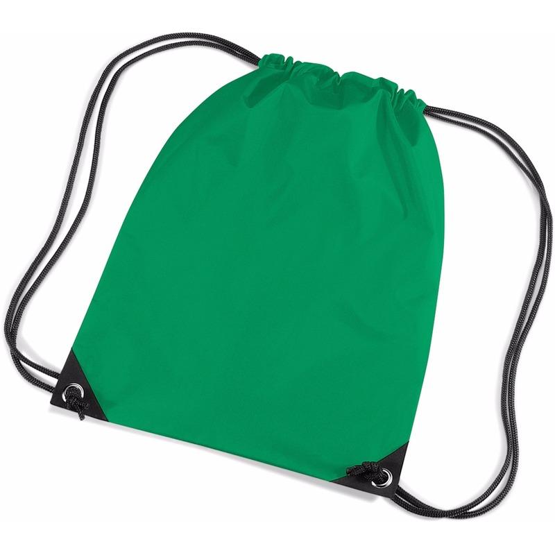 Geen Gras groene gymtas met koordsluiting Tassen