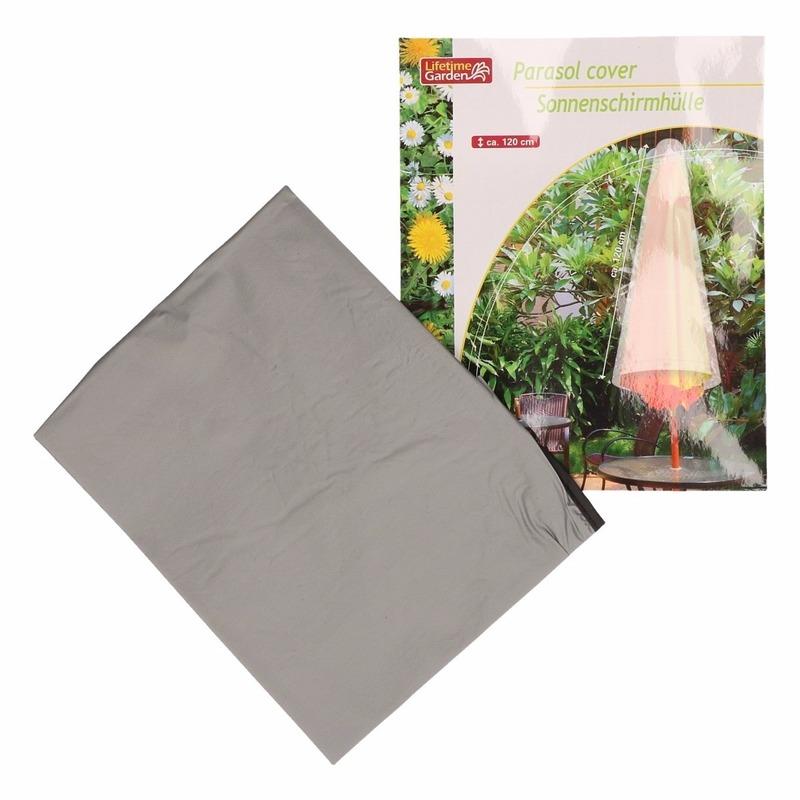 Grijze parasolhoes 120 cm Lifetime Garden