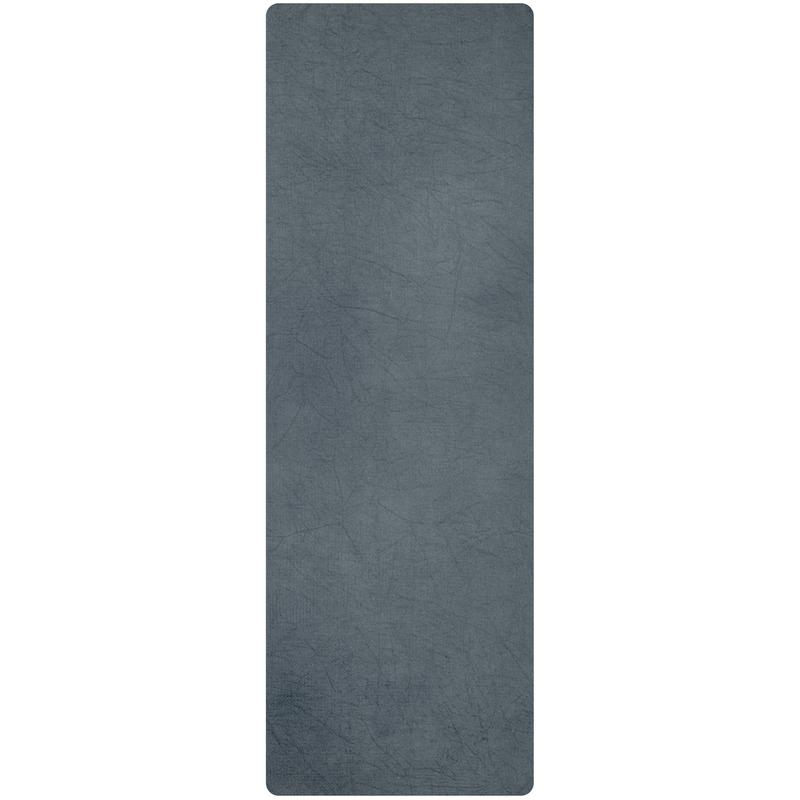 Grijze yoga-sport handdoek antislip 183 x 61 cm