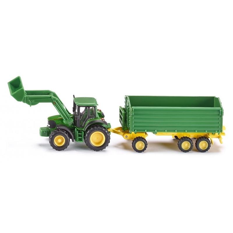 Groene John Deere speelgoed tractor