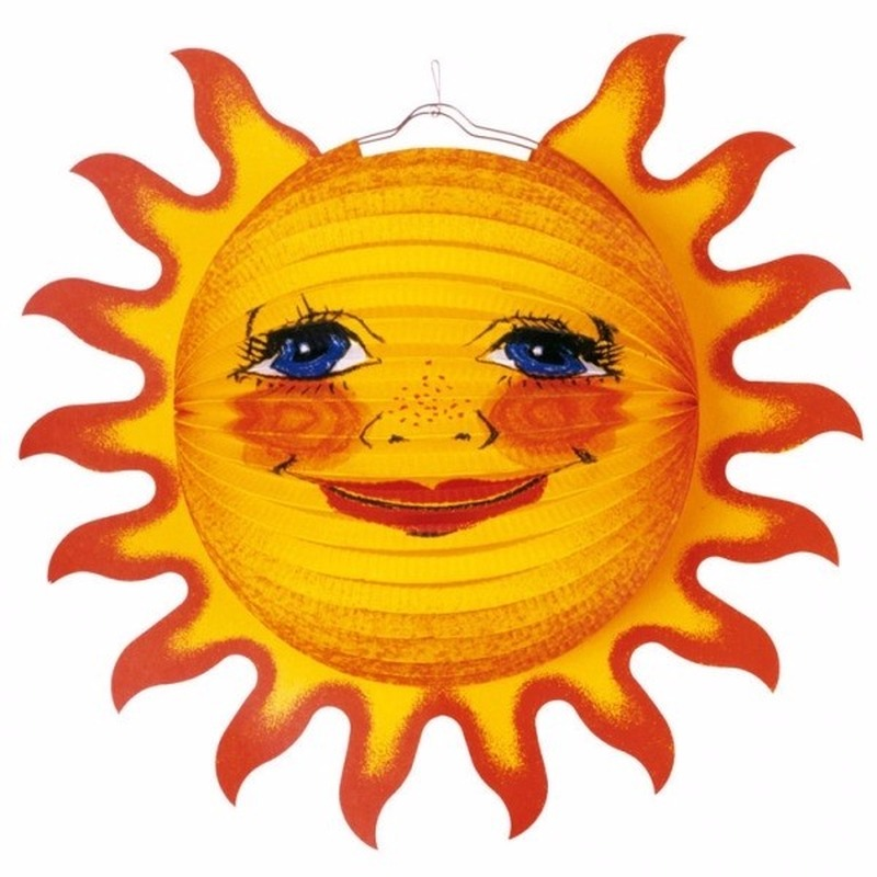 Grote lampion van een zon 38 cm AlleKleurenShirts Schitterend