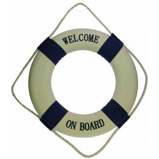 Grote reddingsboei Welcome on board AlleKleurenShirts Goedkoop