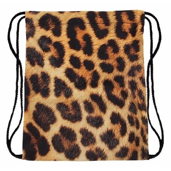 Tassen Geen Gymtasje met luipaard print