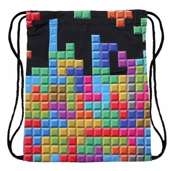 Geen Gymtasje met retro tetris print Tassen