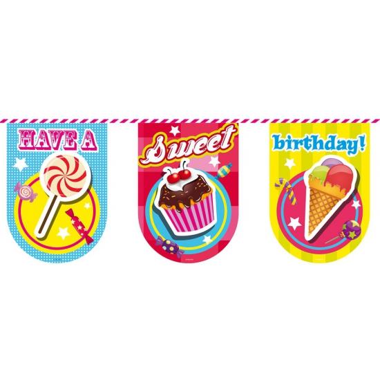 Feestartikelen diversen Have a sweet birthday vlaggenlijn