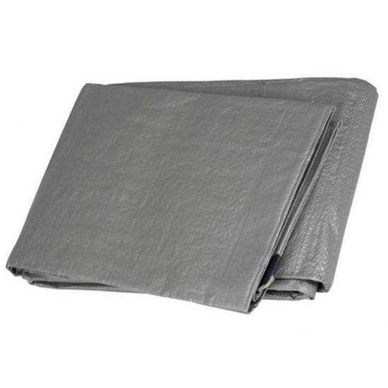 Hoge kwaliteit afdekzeil-dekzeil grijs 4 x 6 meter