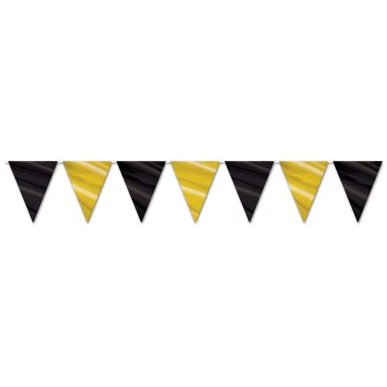 Hollywood vlaggenlijn slingers zwart goud AlleKleurenShirts Goedkoop