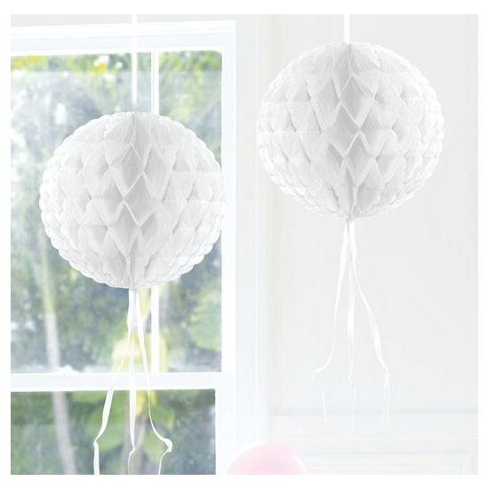 Honeycomb ballen wit 30 cm Geen Kleuren versiering