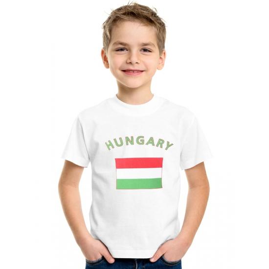 Landen versiering en vlaggen Shoppartners Hongaarse vlag t shirts voor kinderen