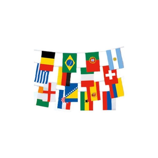 Landen versiering en vlaggen AlleKleurenShirts Internationale vlaggenlijn 9 m