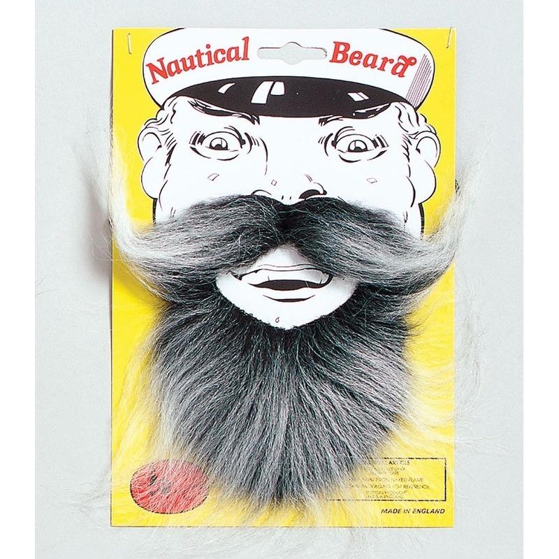 Verkleedaccessoires AlleKleurenShirts Kapiteins baard met snor
