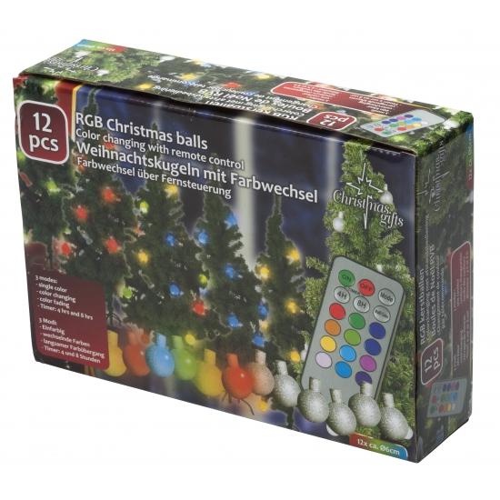 Kerst feestartikelen Geen Kerstballen set met gekleurde verlichting