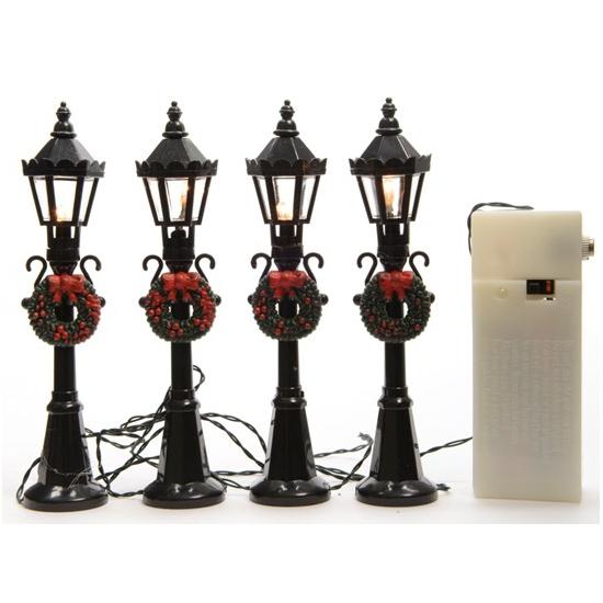 Kerstdorp lantaarns 4 stuks