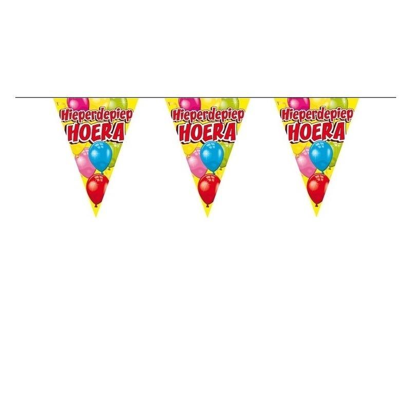 Kinderfeestje verjaardag slingers 6 meter AlleKleurenShirts laagste prijs