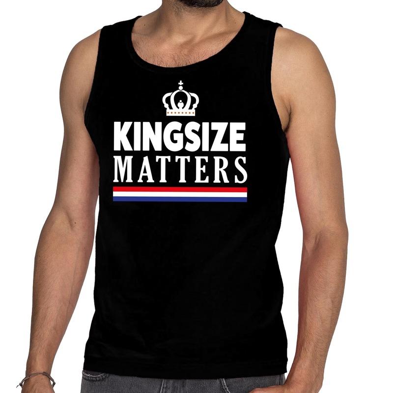 Kingsize matters singlet zwart voor heren