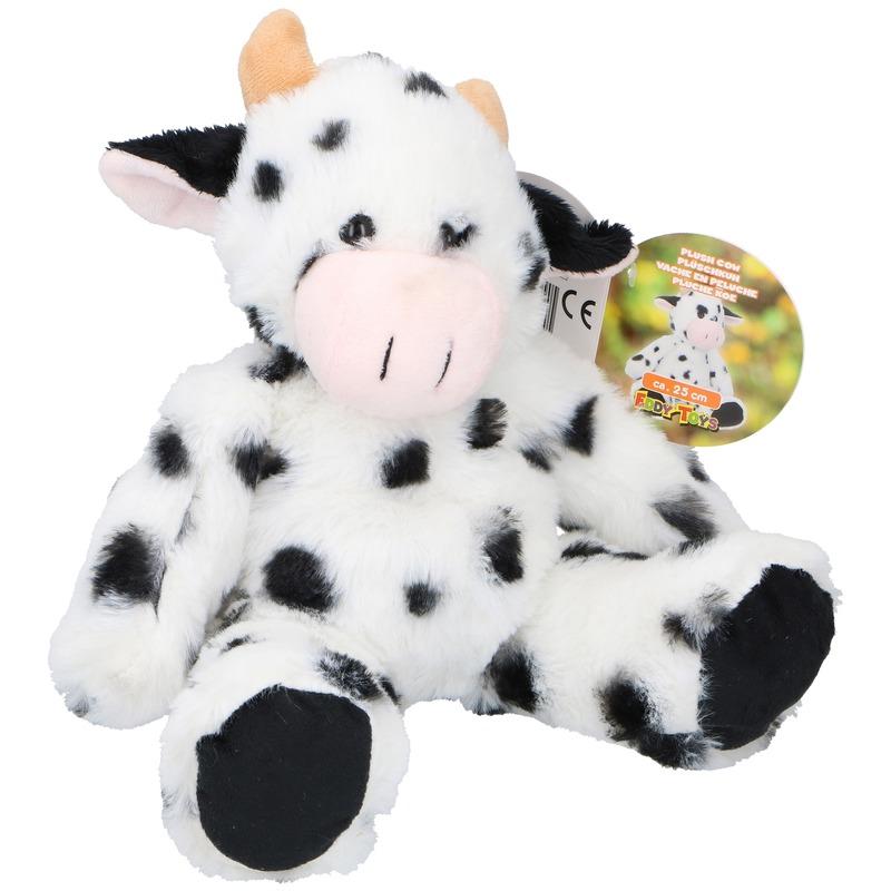 Koe-koeien boerderijdier knuffels 25 cm knuffeldieren