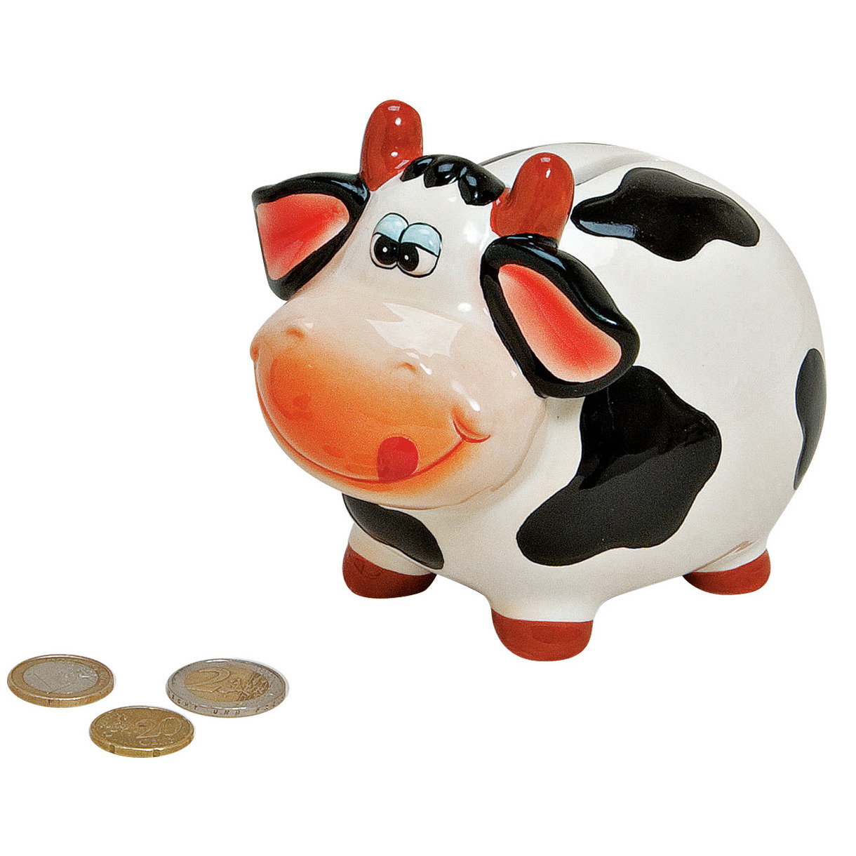 Koeien-kalfjes spaarpot 12 cm