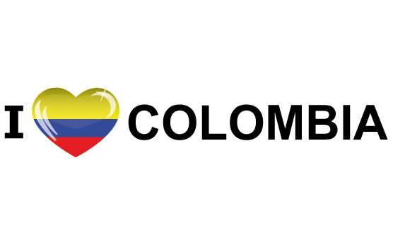 Landen versiering en vlaggen Landen sticker I Love Colombia