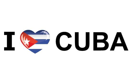 Shoppartners Landen sticker I Love Cuba Landen versiering en vlaggen