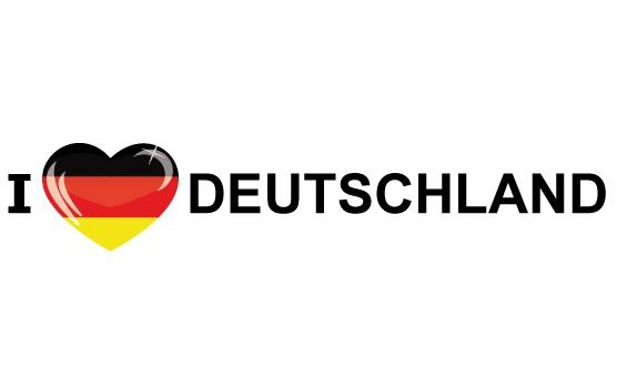 Landen versiering en vlaggen Shoppartners Landen sticker I Love Deutschland