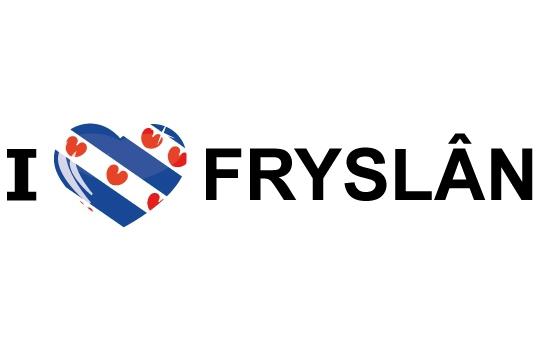 Landen sticker I Love Fryslan Shoppartners laagste prijs