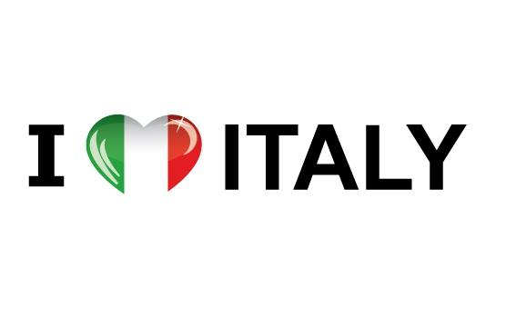 Landen versiering en vlaggen Shoppartners Landen sticker I Love Italy