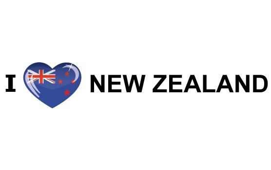 Landen sticker I Love New Zealand Shoppartners Goedkoop