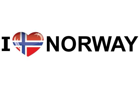 Landen versiering en vlaggen Landen sticker I Love Norway