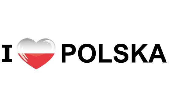 Landen versiering en vlaggen Landen sticker I Love Polska