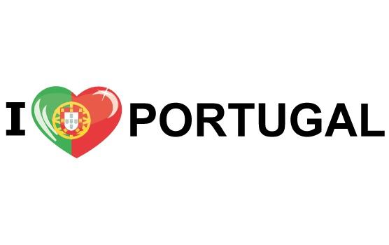 Shoppartners Landen sticker I Love Portugal Landen versiering en vlaggen