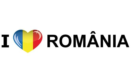 Shoppartners Landen sticker I Love Romania Landen versiering en vlaggen