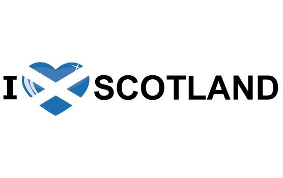 Landen sticker I Love Scotland Shoppartners Landen versiering en vlaggen