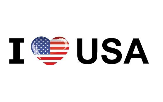 Landen sticker I Love USA Shoppartners beste prijs