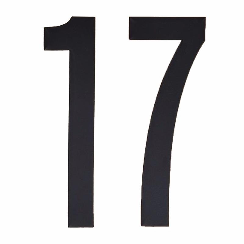 Geen Leeftijd cijfer stickers 17 jaar Hobby Cijfers en letters