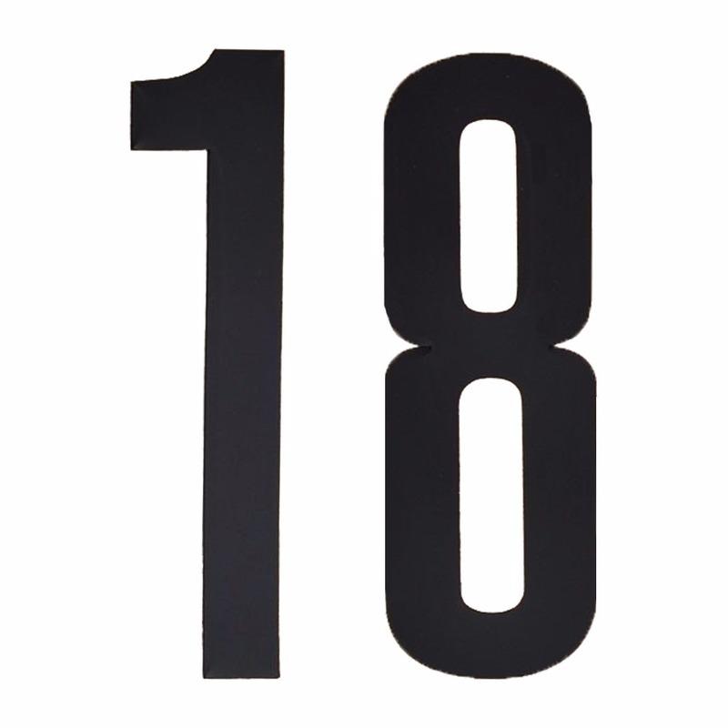 Leeftijd cijfer stickers 18 jaar Geen Hobby Cijfers en letters